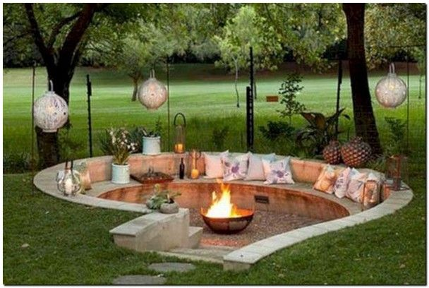 30 Awesome Diy Fire Pit Ideas With Lighting 10 Diy Outdoor Fireplace Fire Pit Backyard Backyard Fire