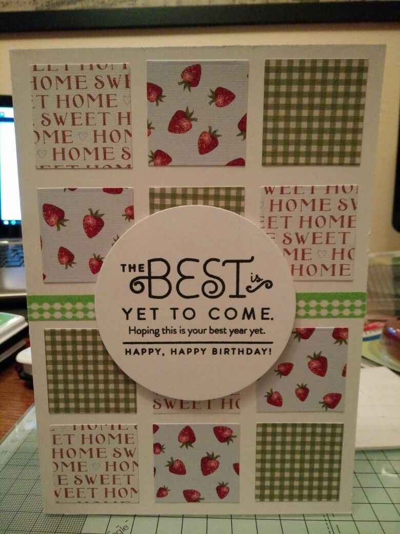 The best is yet to come,  birthday card.