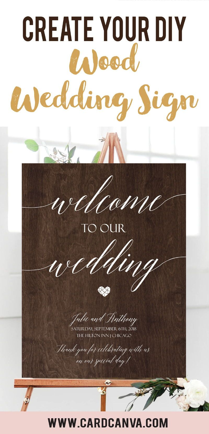 Wood Wedding Sign Template Printable Wooden Wedding Signs Rustic