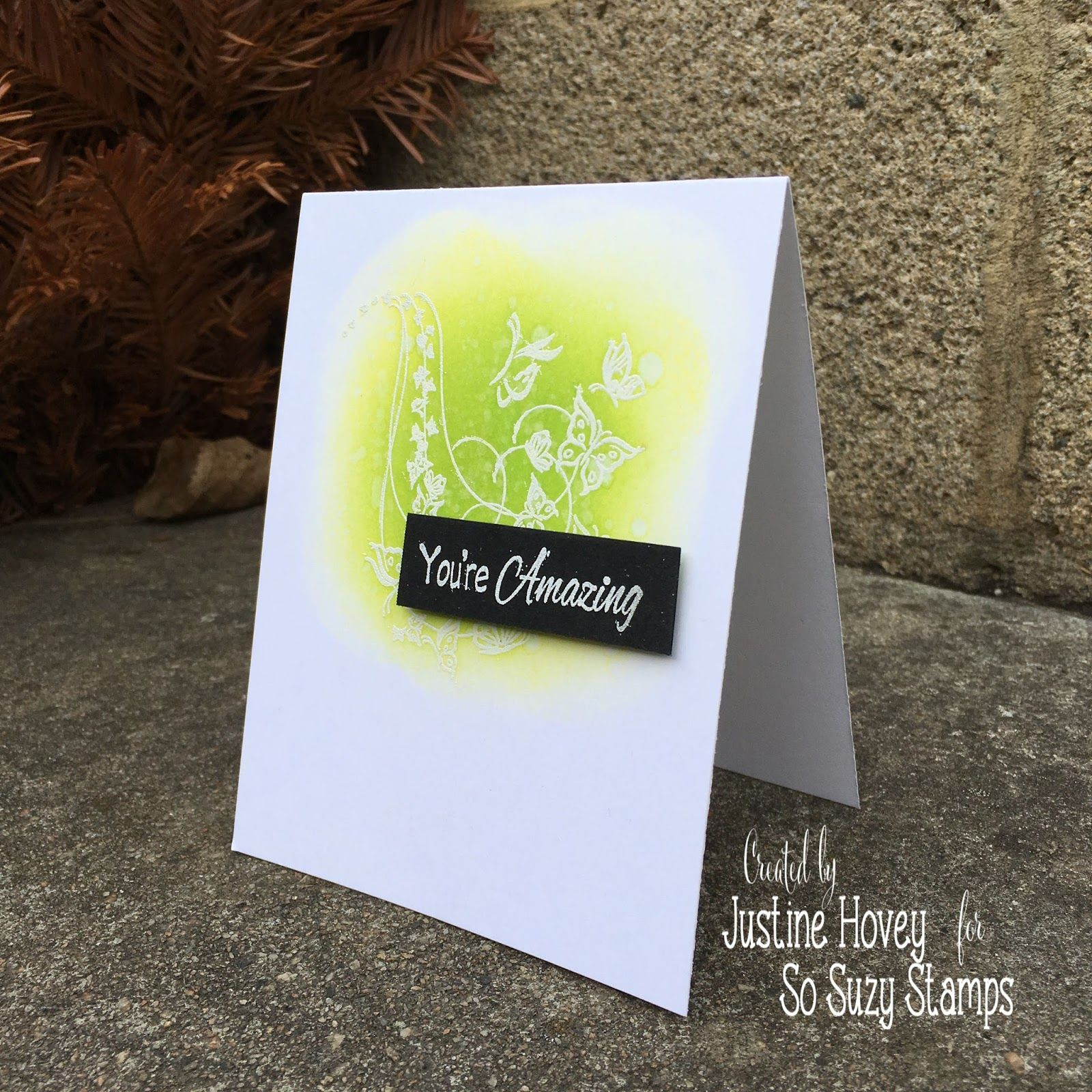 How to get colour in the middle of a card justineus cardmaking
