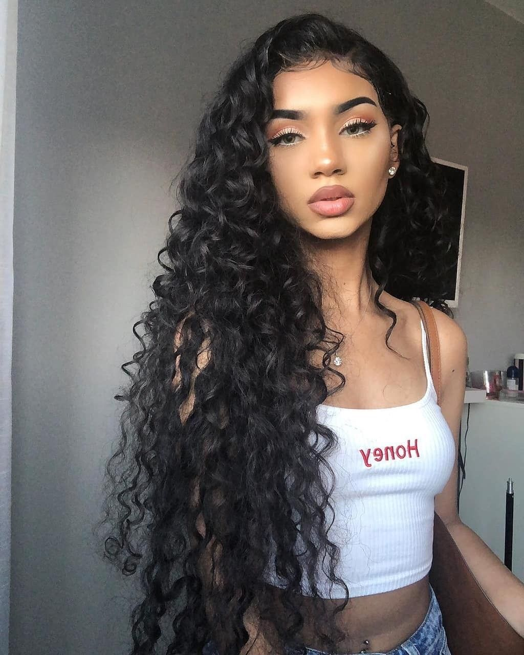 follow for more ~ ssamwam   Curly hair styles naturally, Hair ...