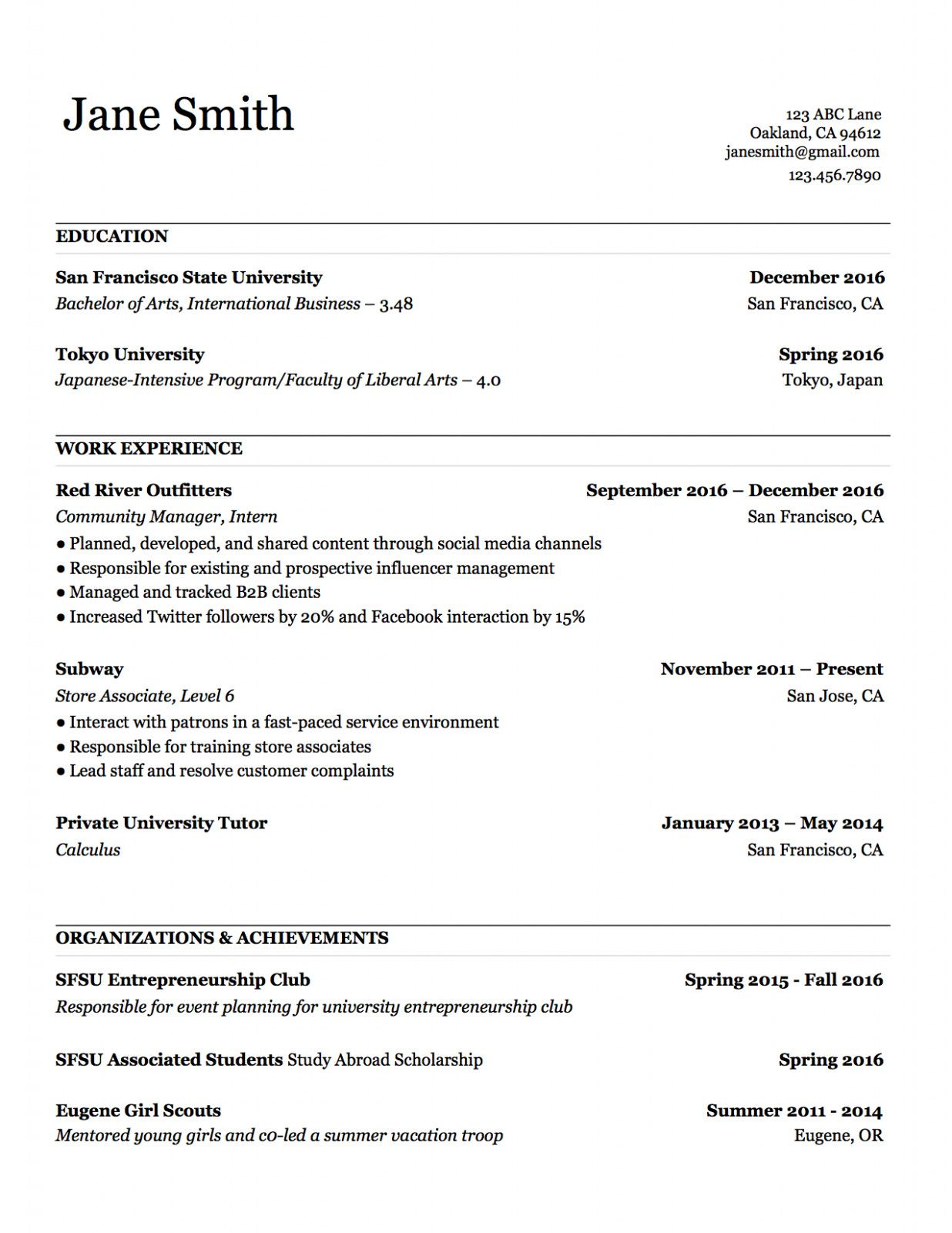 10 Copy Of A Primary Resume 10 Copy Of A Basic Resume