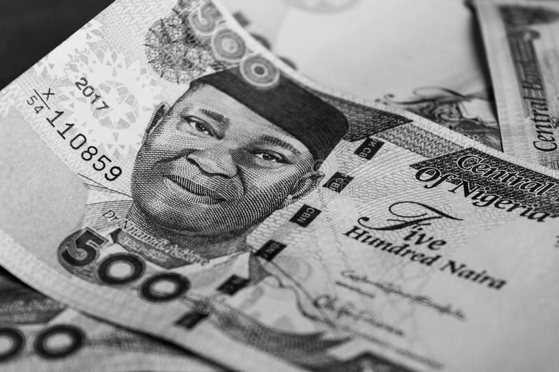 Close Up Of One Thousand Naira Notes Nigerian Currency For
