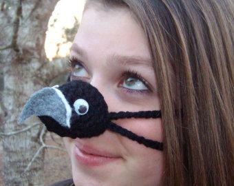 Black Hawk Vogel Nase Wärmer Gemütliche Gehäkelt Teenager