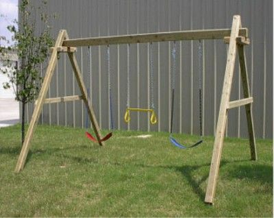 Make A Frame Swing Set How To Build Wood Framed Swing Sets Small