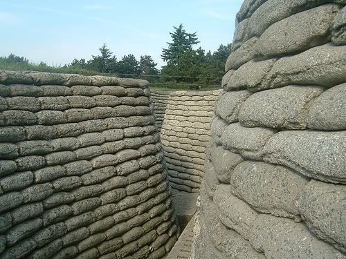 Wwi While The Former Sandbags Our Now Fake You Get A Idea Of A View Inside A Trench Wwi Views Abandoned