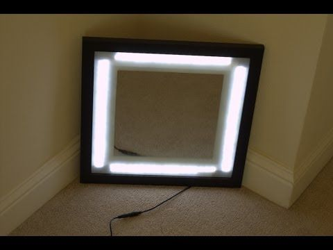 Step By Step LED Vanity Mirror In A Picture Frame With Dimmer DIY YouT