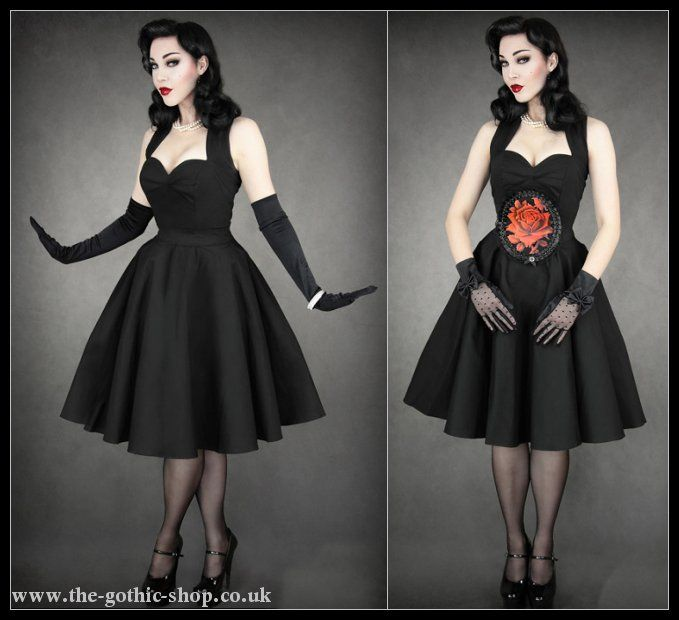Black Cotton Pinup Prom Dress by Restyle | Clothes <3 | Pinterest ...