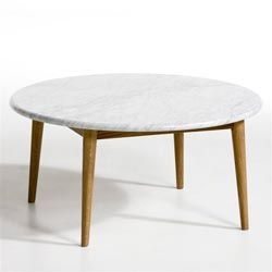 Table Basse Marbre Blanc Beate Marmora Ronde Ampm Decor N More