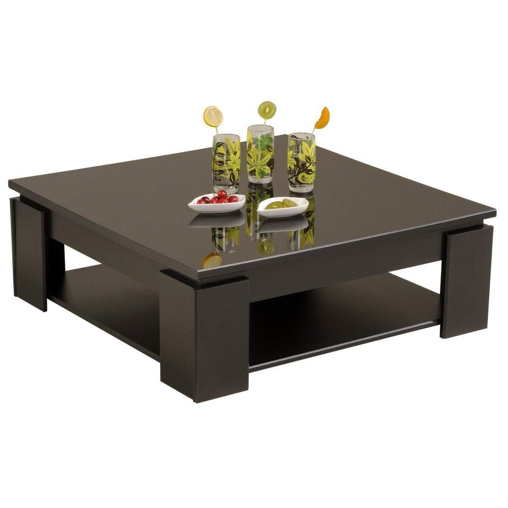 Shiny Black Bedroom Furniture Details About Parisot Quadri Coffee Table In Shiny Black 9459taba