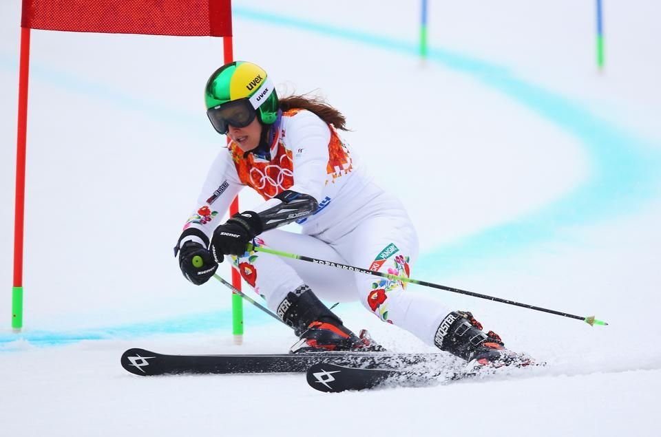 Anna Berecz DAY 12 Anna Berecz of Hungary competes during the Alpine Skiing