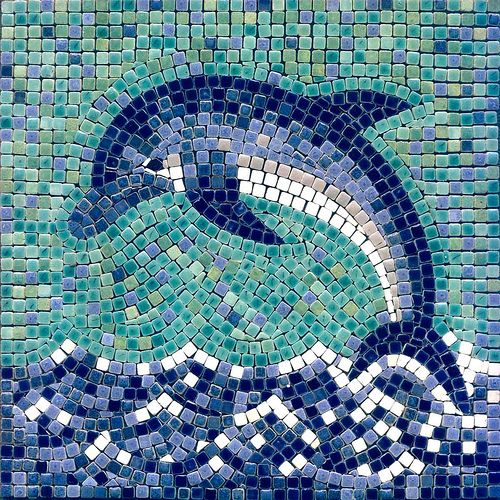 Delfin Mosaik, Dolphin Mosaic, by  ALEA-mosaic.com by Clemens Circulatum, via Flickr