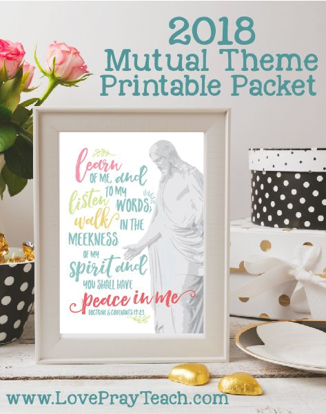 2018 Mutual Theme Printable Packet Peace In Christ Ultimate Packet