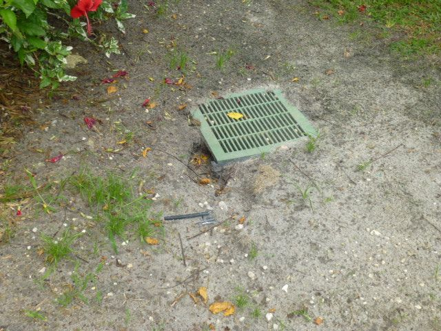This is a catch basin that you would see where we are ...