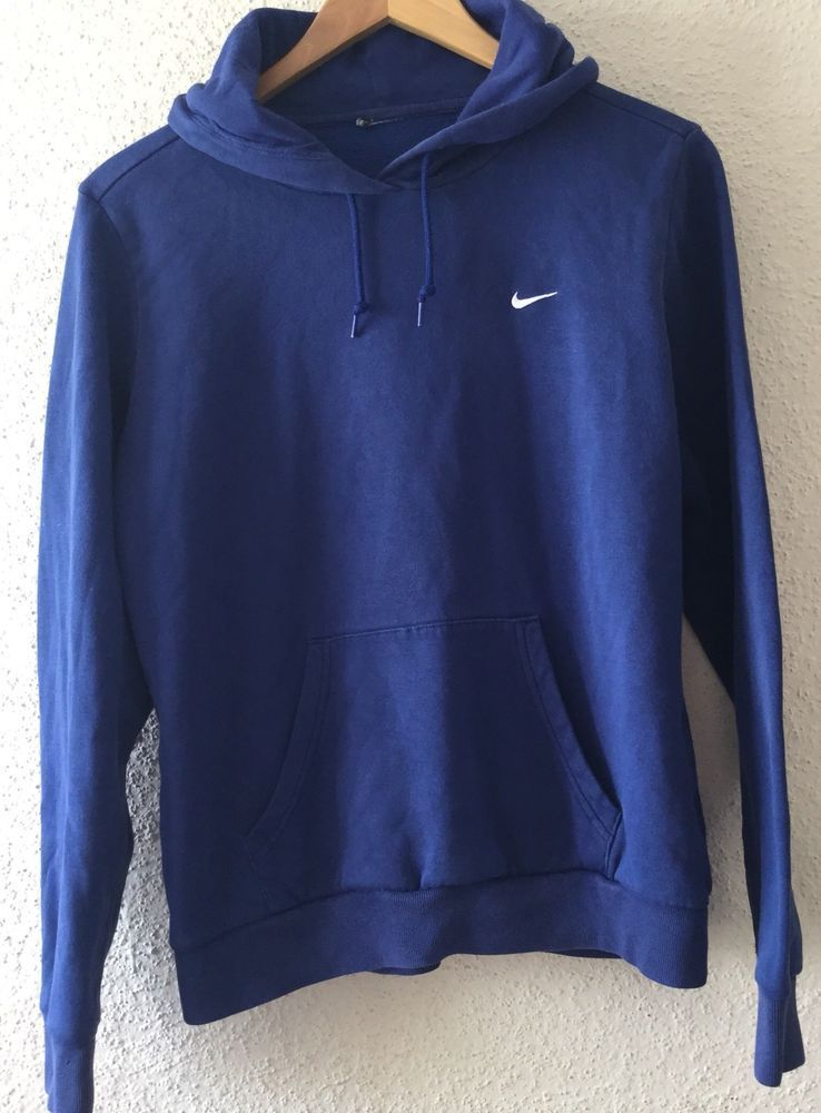 d2c388cdeae9 Nike Womens Pullover Medium Hoodie Hooded Sweatshirt w  Small Swoosh Blue   Nike  Hoodie