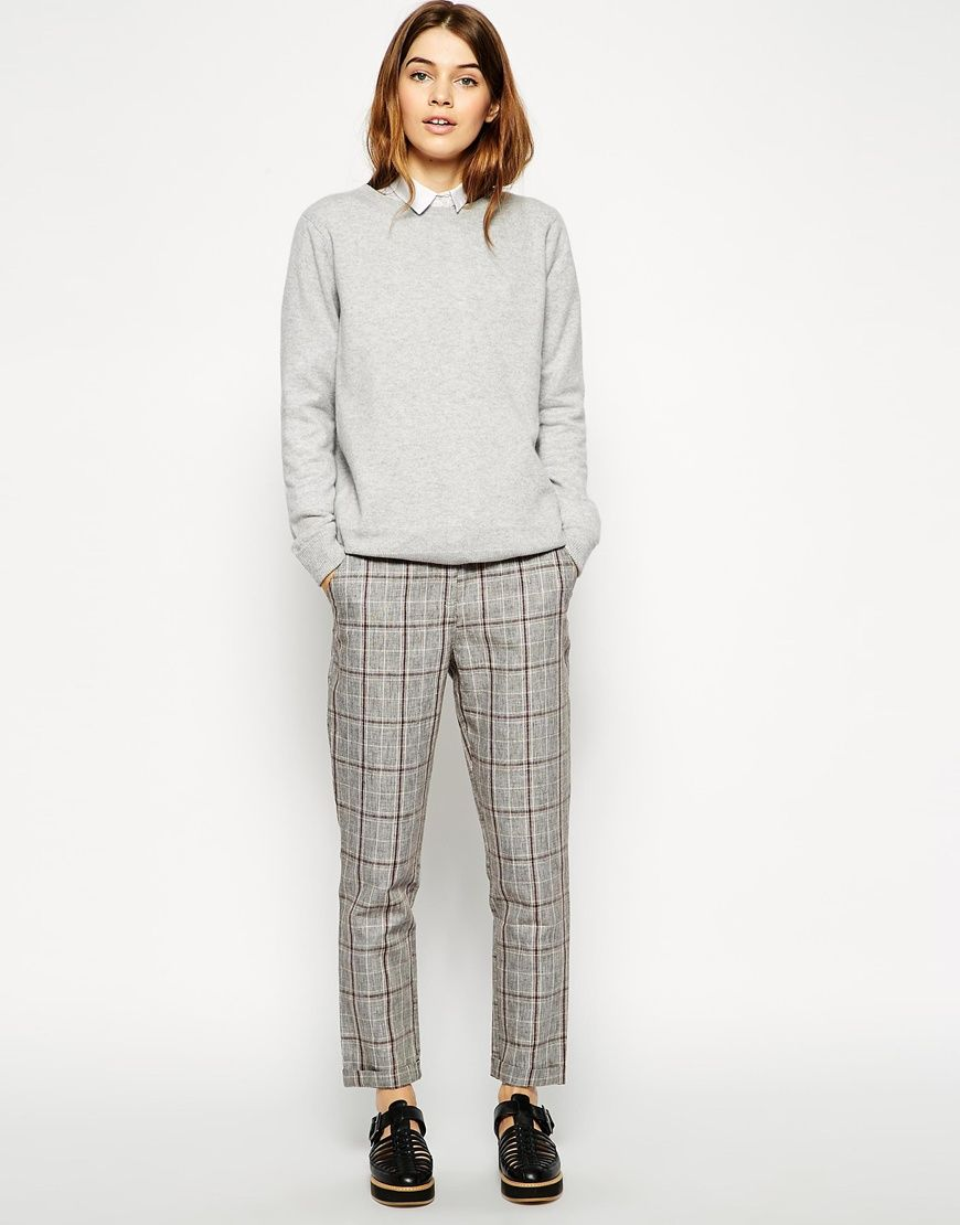 Compra Pantalón de pinzas de cuadros con 5 bolsillos de ASOS en ASOS.  Descubre la moda online.