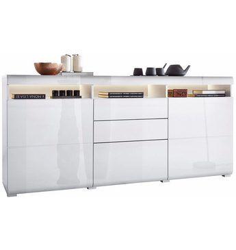 roomed Sideboard, Breite 180 cm Jetzt bestellen unter: https://moebel.ladendirekt.de/wohnzimmer/schraenke/sideboards/?uid=10aa44e7-b15f-5aa3-9df0-d9ba65f165c2&utm_source=pinterest&utm_medium=pin&utm_campaign=boards #schraenke #wohnzimmer #sideboards