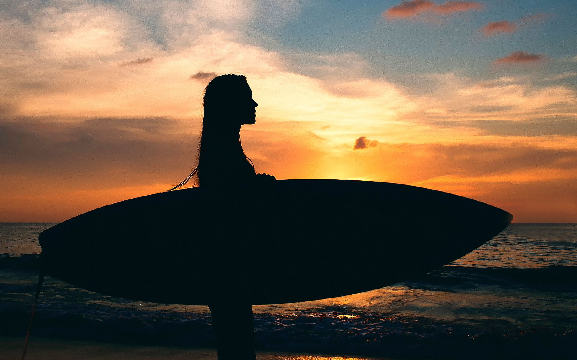 girl surfing in sea sunset wallpaper check more at http