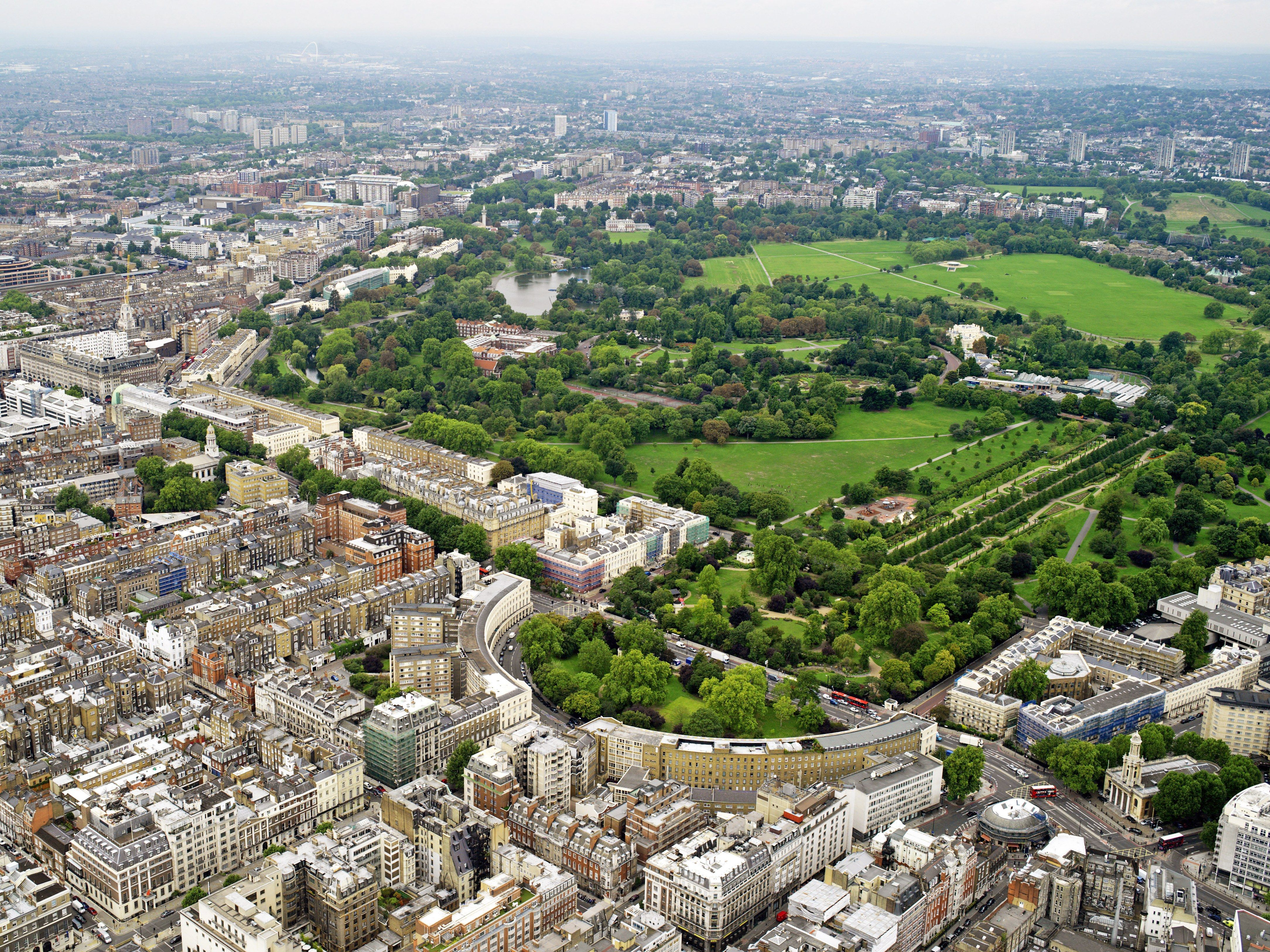 Billedresultat for regents university london aerial view