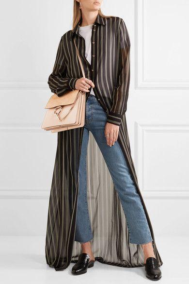 7e51b28433 CHLOÉ Faye fabulous medium leather and suede shoulder bag | CHLOÉ ...