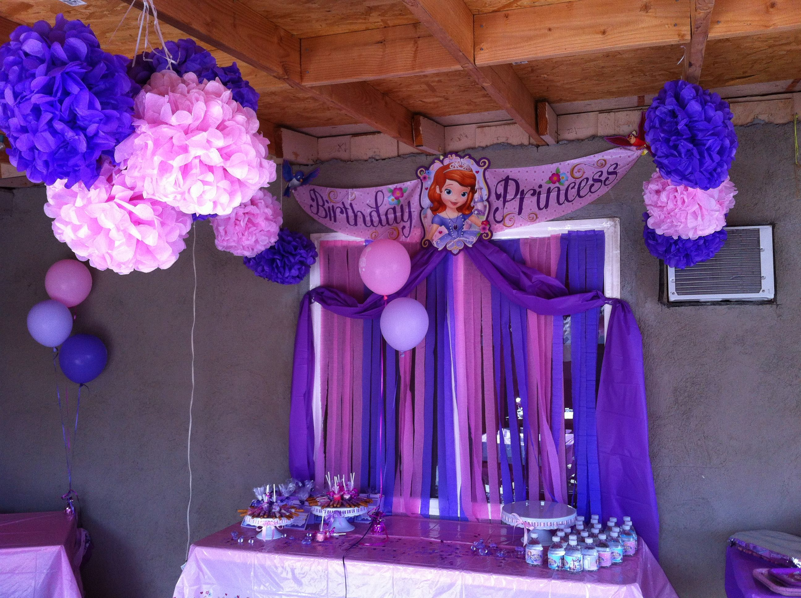 From my daughters\' Sofia the First birthday party | Party Ideas ...
