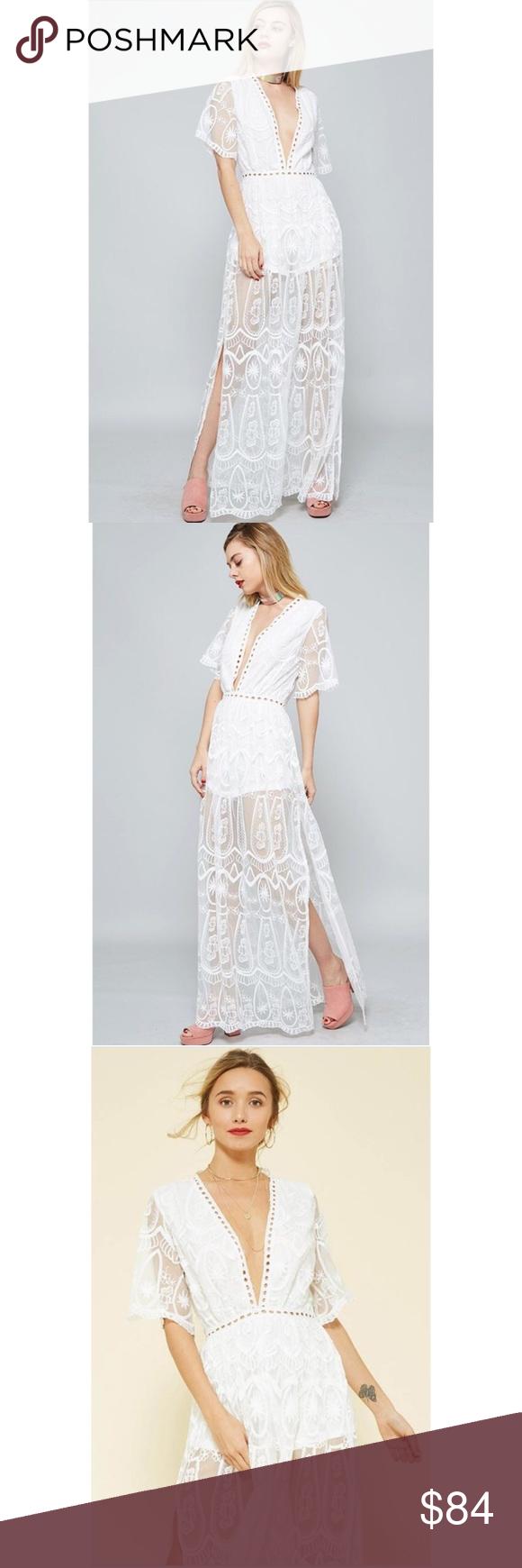 White bardot lace maxi romper dress boutique my posh picks pinterest