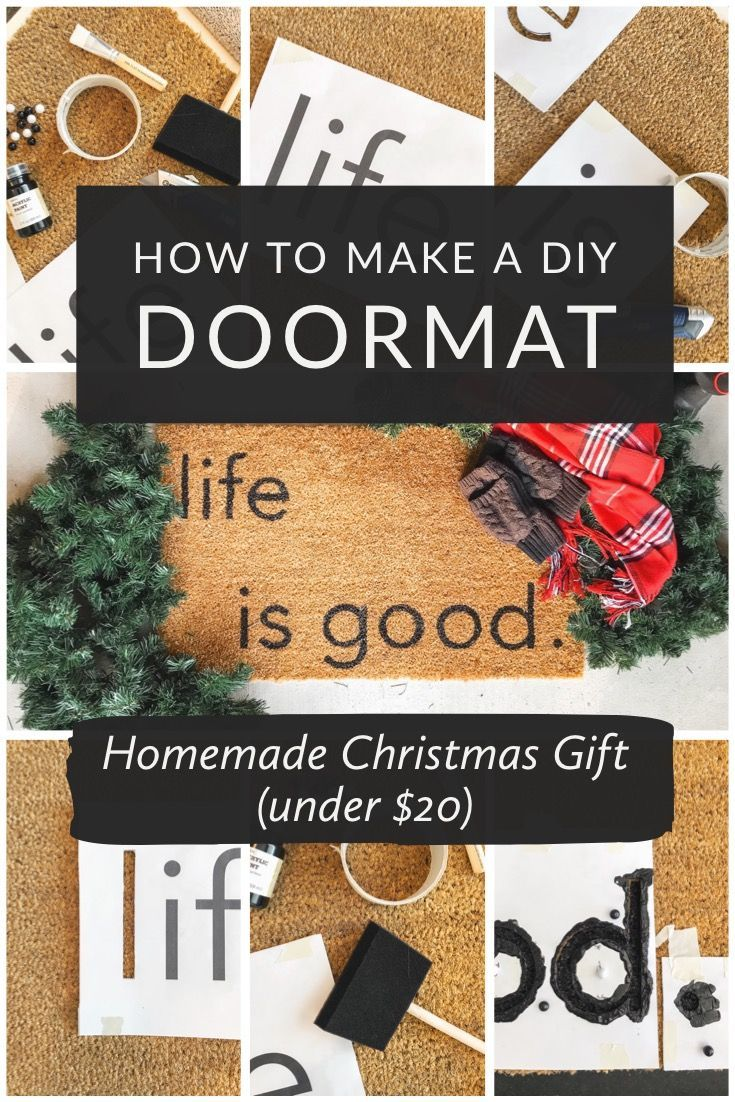 How to Make a DIY Doormat (for under $20) –  #DIY #doormat #under