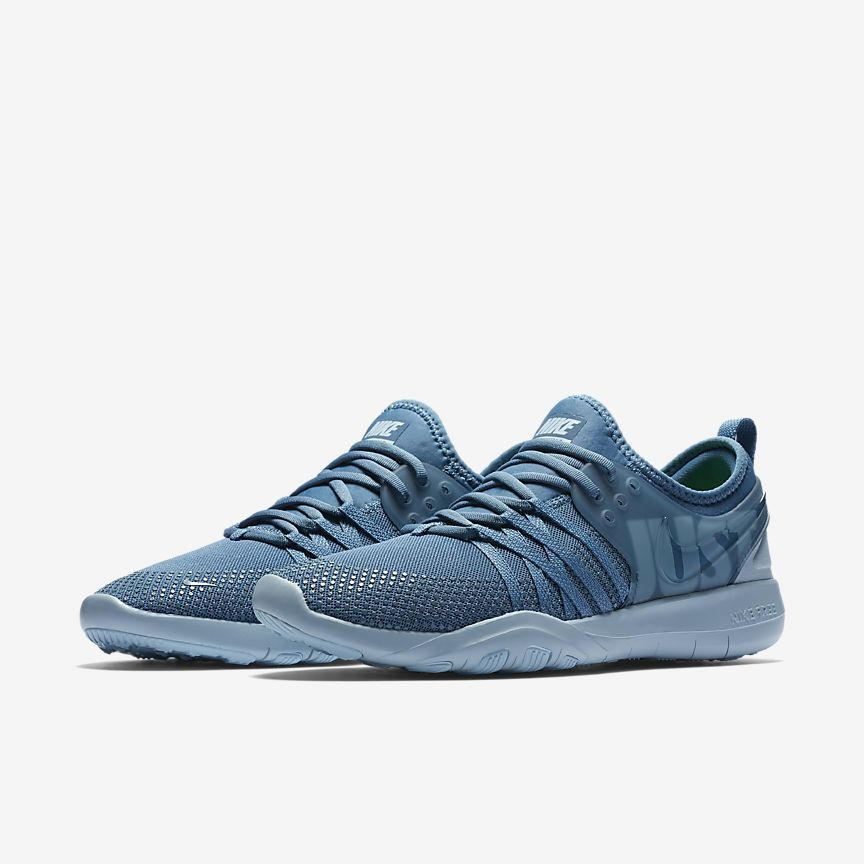 2910b4b85ec48 Nike Free Trainer 7 Premium Women s Training Shoe -  100 Noise Aqua Ocean  Bliss Navy