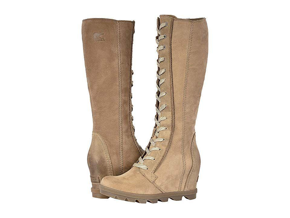 98a47a1a702f SOREL Joan of Arctictm Wedge II Tall (Ash Brown Full Grain Leather Nubuck  Combo