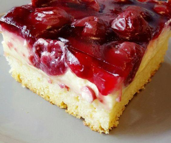 Kirsch - Schmand - Blechkuchen #sourcream