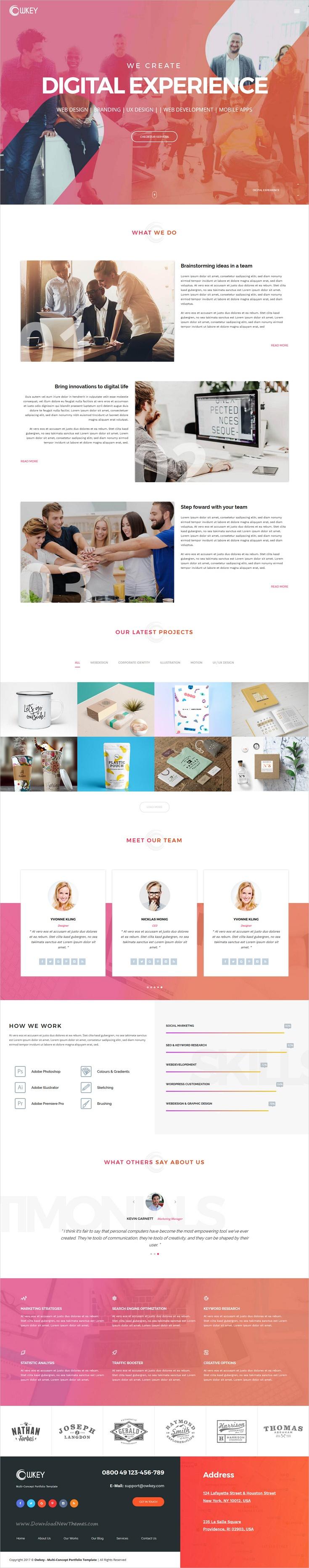 Owkey Is An Elegant And Modern Design 4in1 Responsive Html Bootstrap Template For Corporate Business Website Download Now Https Grafik Design Design Grafik