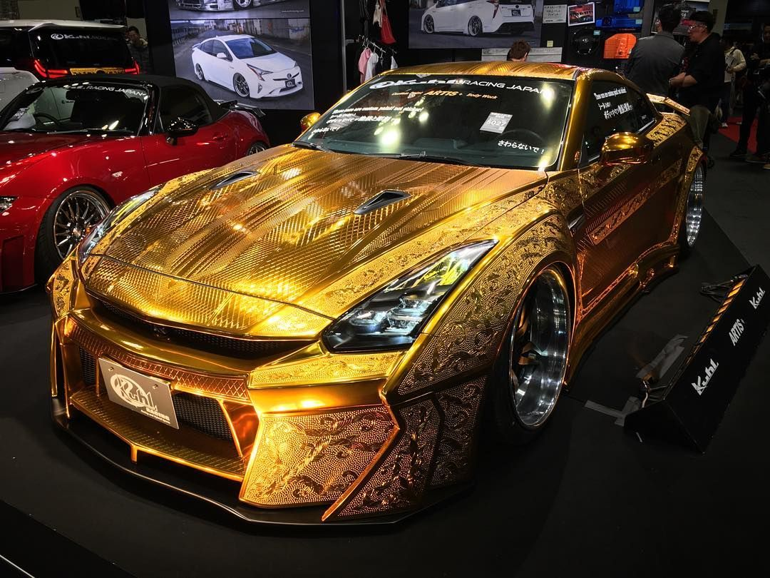 金ピカGTR R35GTR Gold Metal Paint customized by KuhL Racing