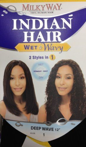 Milkyway Indian Hair Wet Wavy Weave Deep Wave 12 1 Jet Black By Milky Way 49 99 Flat Iron It Straight For Curly Style