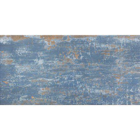 Carrelage sol et mur bleu effet bois Cuba l30 x L604 cm salle - mur en bois interieur
