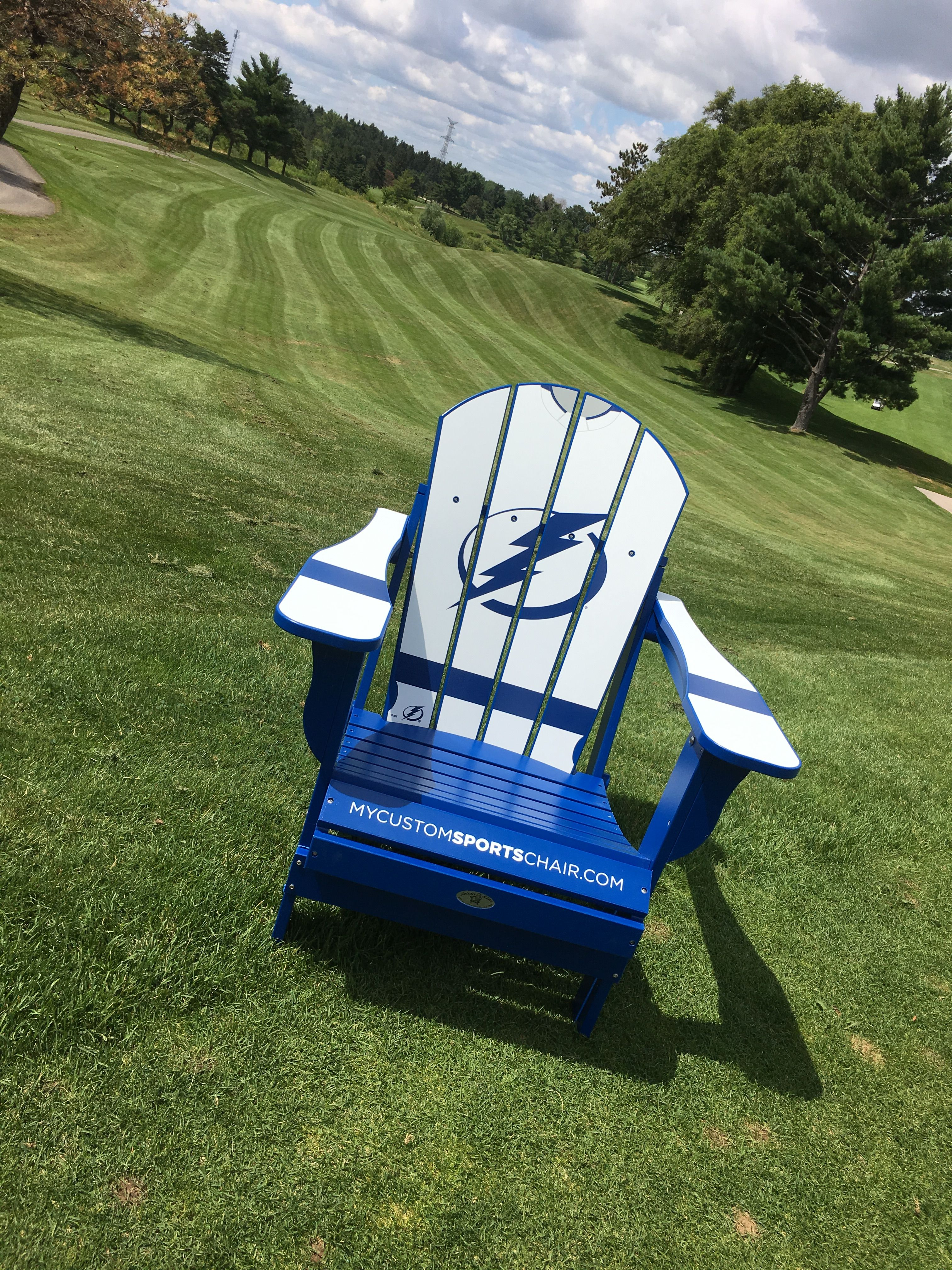 4926097c0b3 Tampa Bay Lightning Chair!  nhl  tampa  lightning  golfcourse  hockey