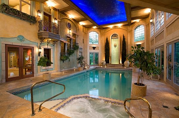 50 Indoor Swimming Pool Ideas Taking A Dip In Style Indoor Pool Design Indoor Pool Pool Houses