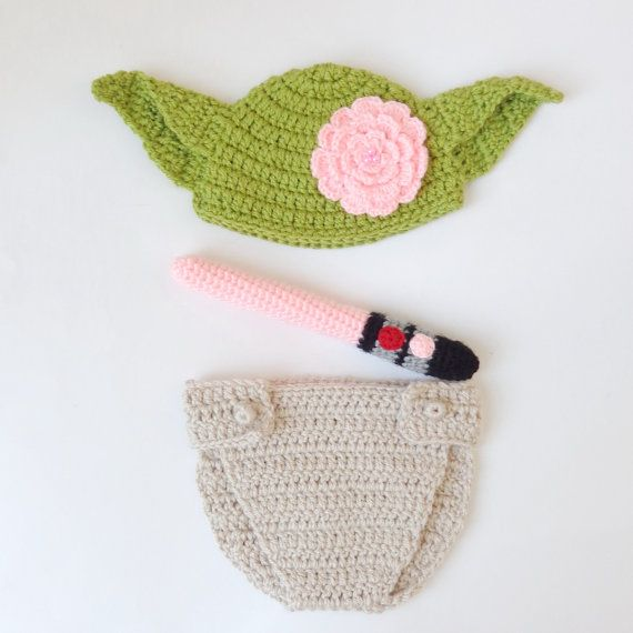 Master Yoda Baby Costume - Hat and Diaper Cover From Star Wars With ...