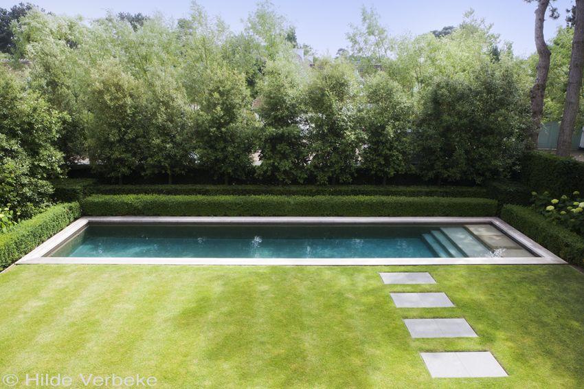 Geliefde Zichtbeton zwembad in kleine tuin van kustvilla   Outdoor Pool @RN89