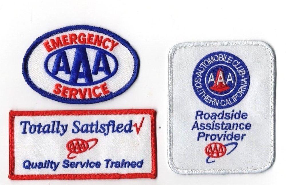 AAA Emergency Patch Lot of 3 Roadside Assistance Trained