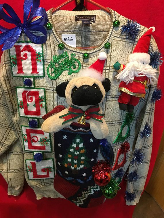 How much is that doggie on the sweater? Arf!!!! Ugly Christmas