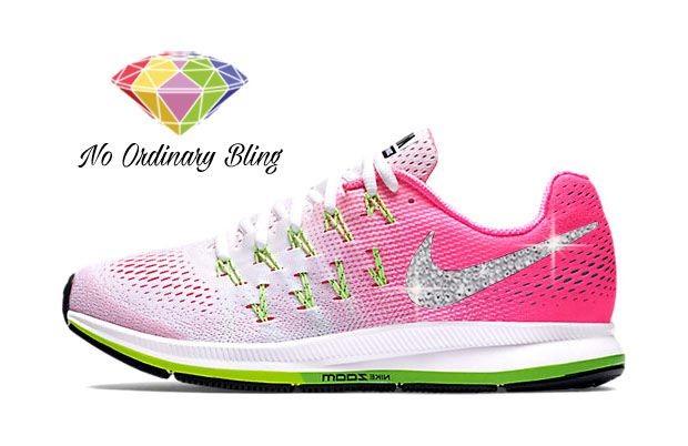 Shop custom bling Nike shoes for women and wedding style Converse & Bridal  ribbon handmade by No Ordinary Bling.
