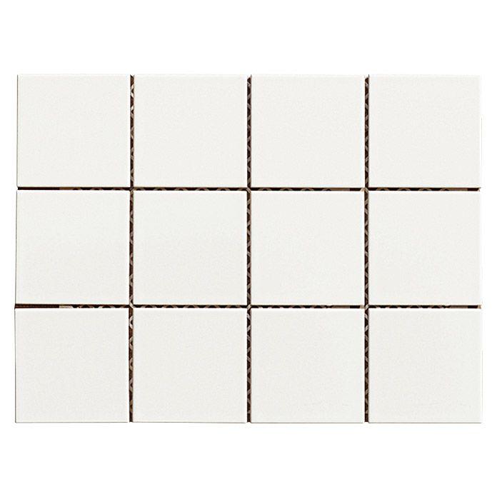 Mosaikfliese Hannover X Cm Weiß Cottage House Pinterest - Weiße fliesen 10x10