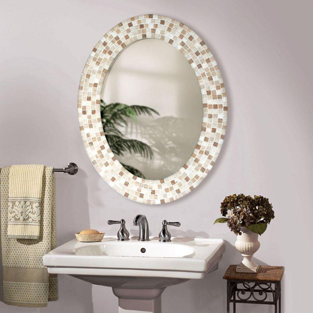 Bathroom Mirror Designs Best Modernbrightbathroominteriordesignwithovalbathroommirror Inspiration