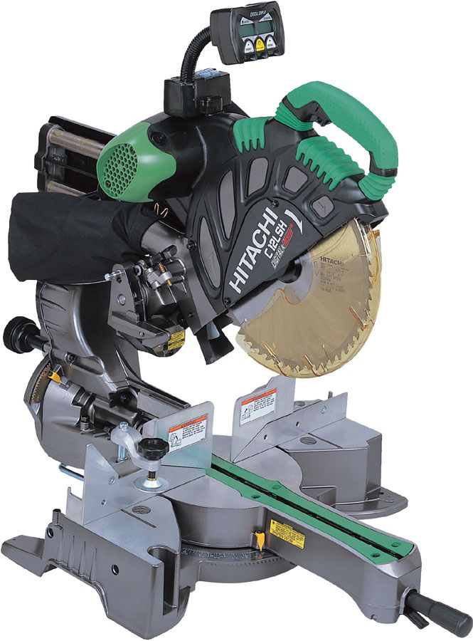 Hitachi Slide Compound Mitre Saw With Digital Display 305mm 12 Compound Mitre Saw Electrician Tools Hitachi