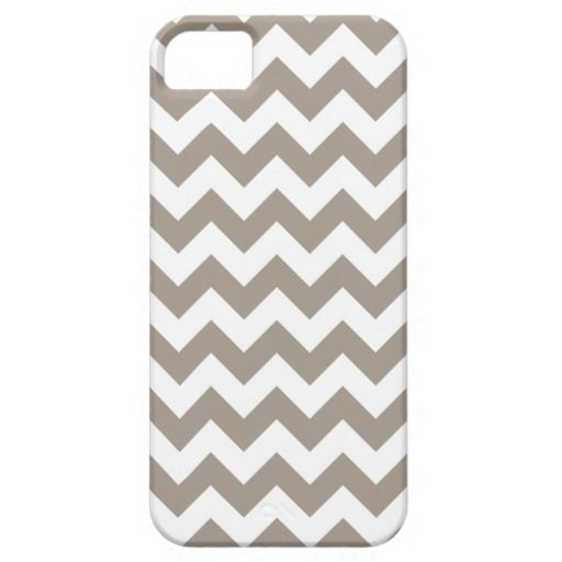 Taupe Chevron Pattern Cover For iPhone 5/5S