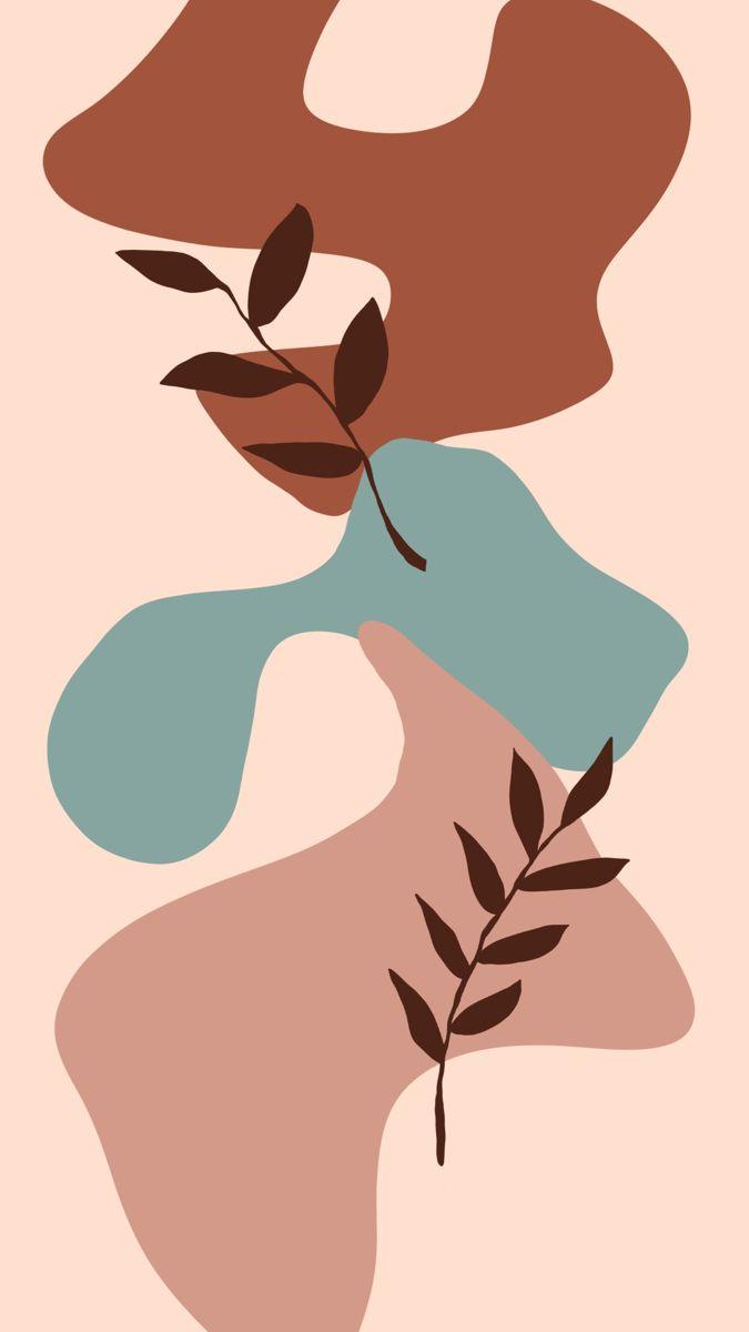 Abstract Botanical Wallpaper