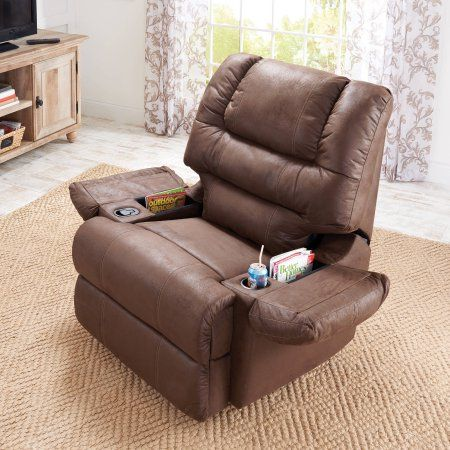 63d64fbf646a4557bd0522f25d3cc128 - Better Homes & Gardens Deluxe Rocking Recliner Brown