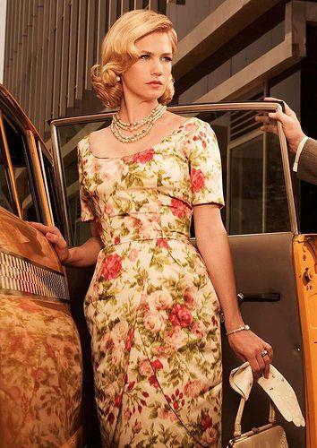 0a95840048f MAD MEN Betty Draper ivory dress by Natalia Sheppard