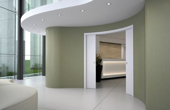 Eclisse Circular, Double Curved Sliding Pocket Door System. Continue The  Curve And Create Architecturally Sophisticated Designs Of Movement And  Shape.