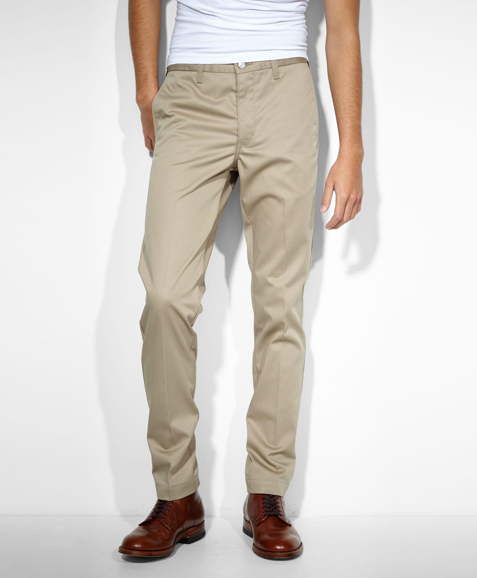 Levis 511 slim fit staprest khaki men jeans pants